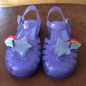 Mini Melissa Girls Purple whit Star Sandals Size10